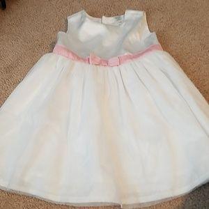 Baby girls white formal dress